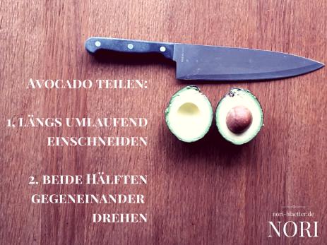 nori blaetter avocado teilen futo maki avocado sushi selber machen vegan kalorienarm natriumarm glutenfrei lactosefrei ei frei cholesterinfrei
